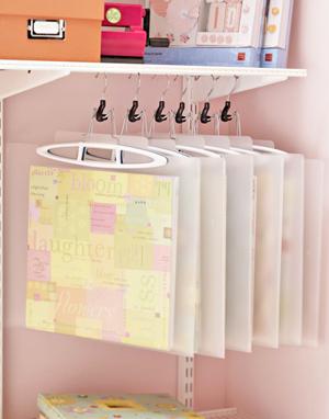 Pant hanger paper storage