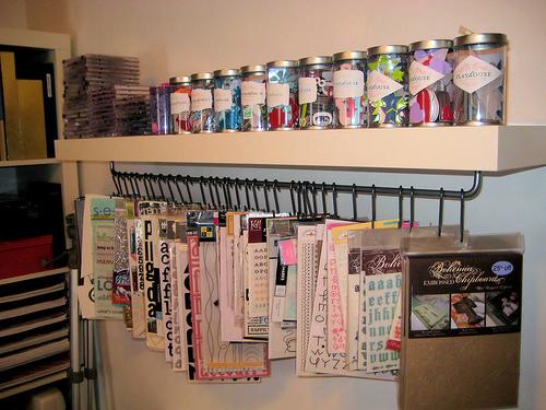 Shelf with s-hooks