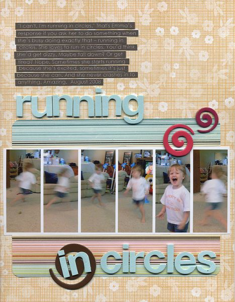 Running in circles erin sweeney write click scrapbook