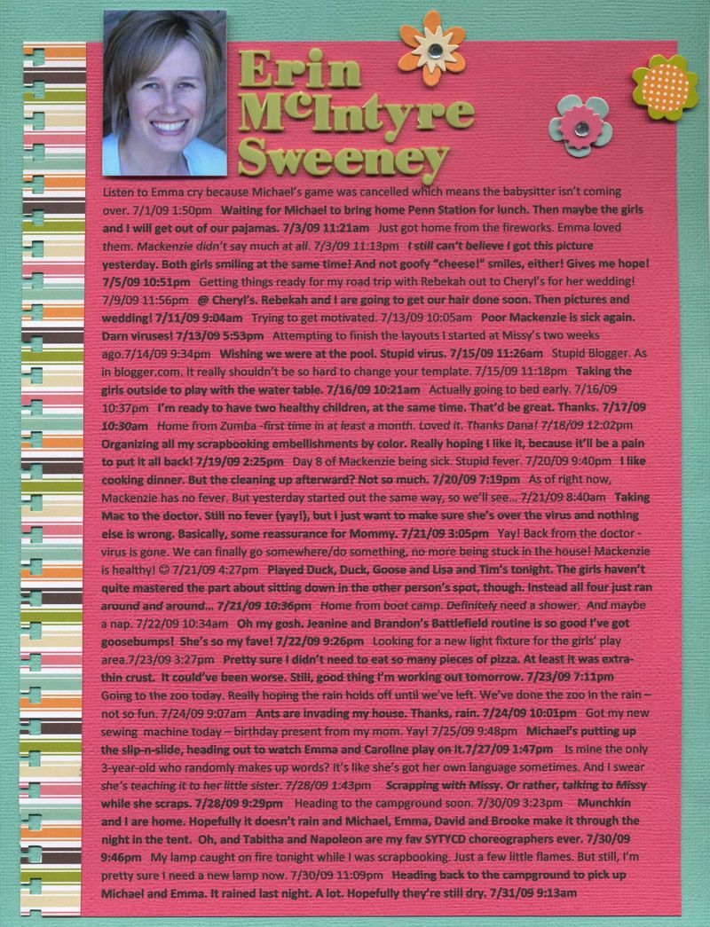 Erin mcintyre sweene status update layout