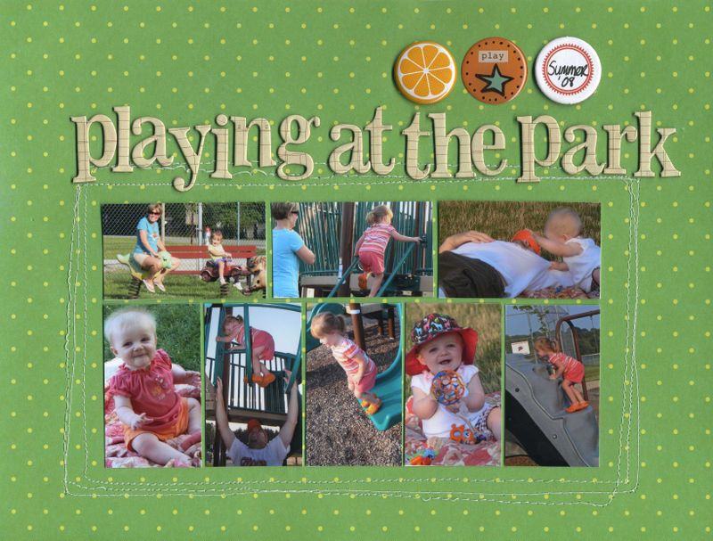 Playing at the park erin sweeney write click scrapbook