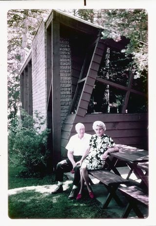Ralph Budd and Gertrude Olson Keeler_1950s_Brickerhaven cabin copy 5_filtered_small