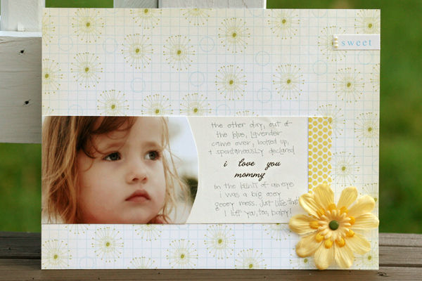 I love you mommy write click scrapbook