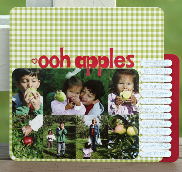 Ooh apples write click scrapbook