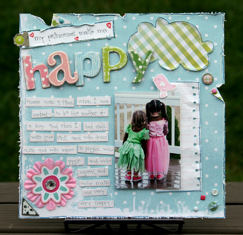 My princesses write click scrapbook