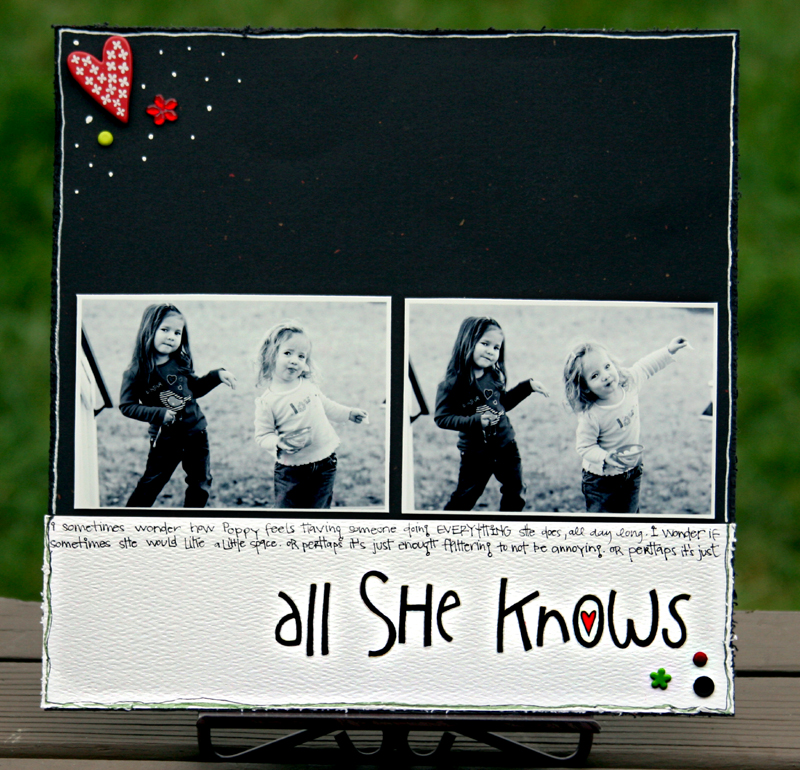 All she knows write click scrapbook