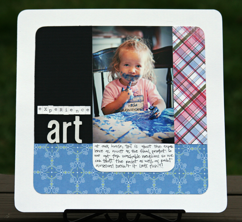 Experience art write click scrapbook
