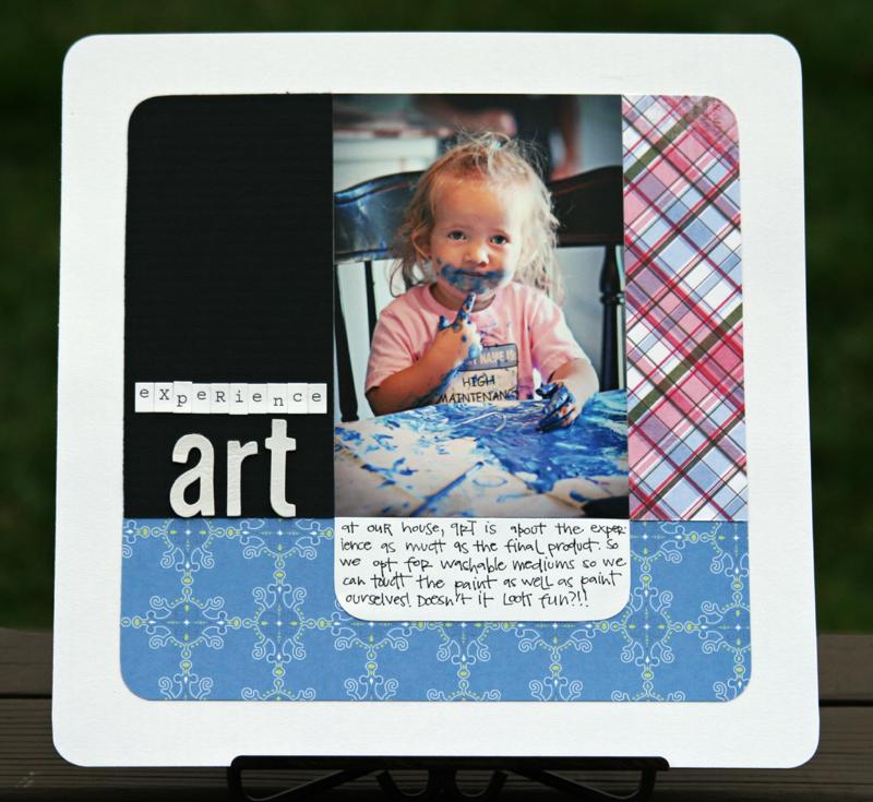 Experience art write click scrapbook