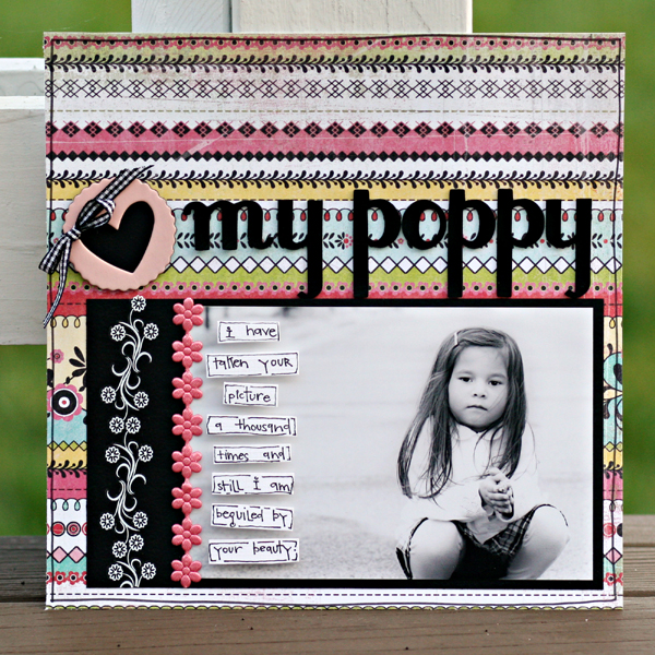 My poppy write click scrapbook