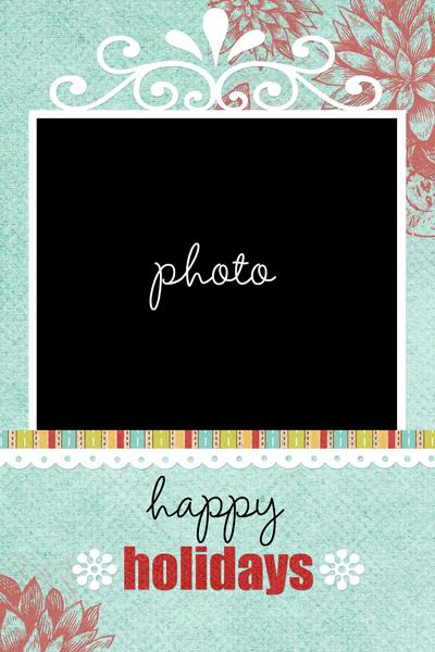 Happyholidays write click scrapbook