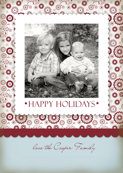Happy holiday red & blue write click scrapbook
