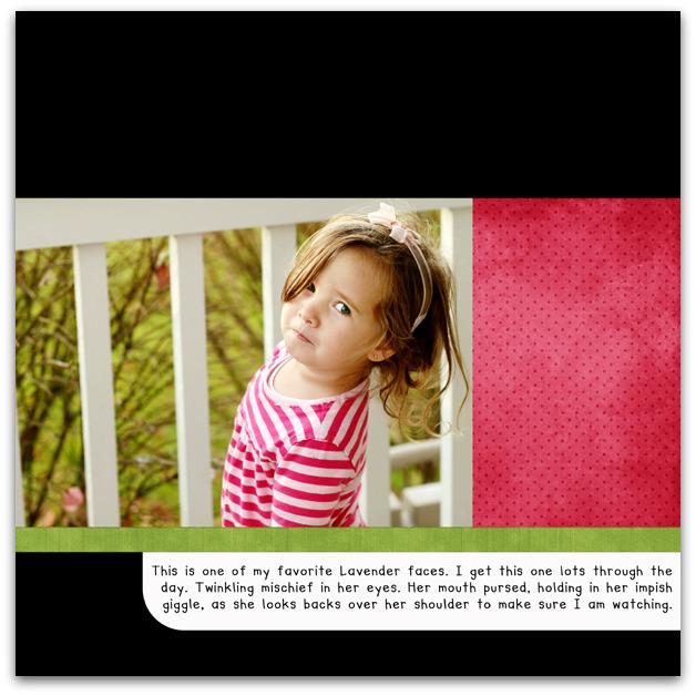 11.09.09 - lavender's grin write click scrapbook