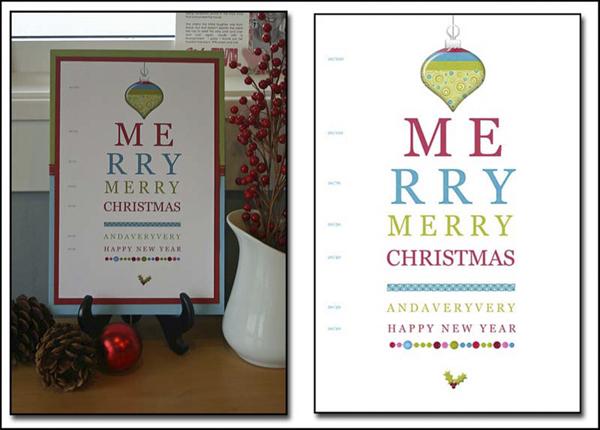 Eyechart merry christmas