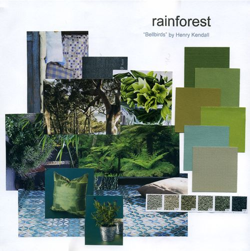 The colour board: Rainforest - Colour Board