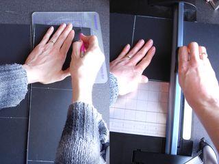 Cut mounting board