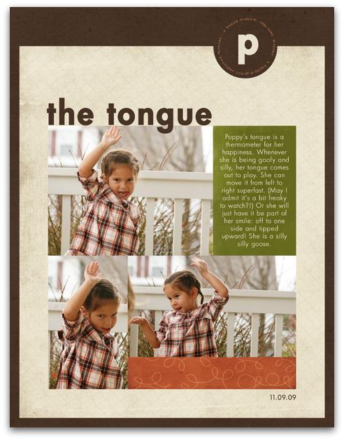 11.09.09 - the tongue write click scrapbook