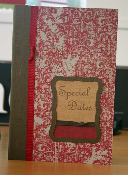 Special Dates Organizer Cover