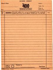 VintageScoreSheet