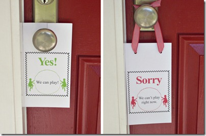 yes & sorry door hangers