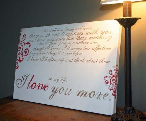 I love you more canvas