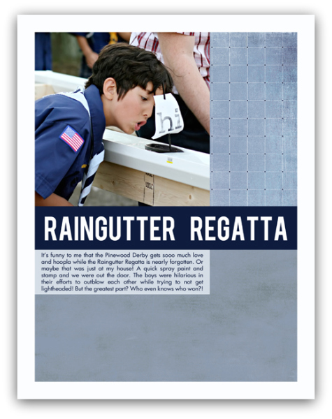 Raingutter regatta write click scrapbook