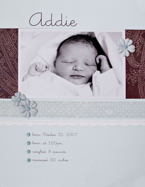 Addie's first layout