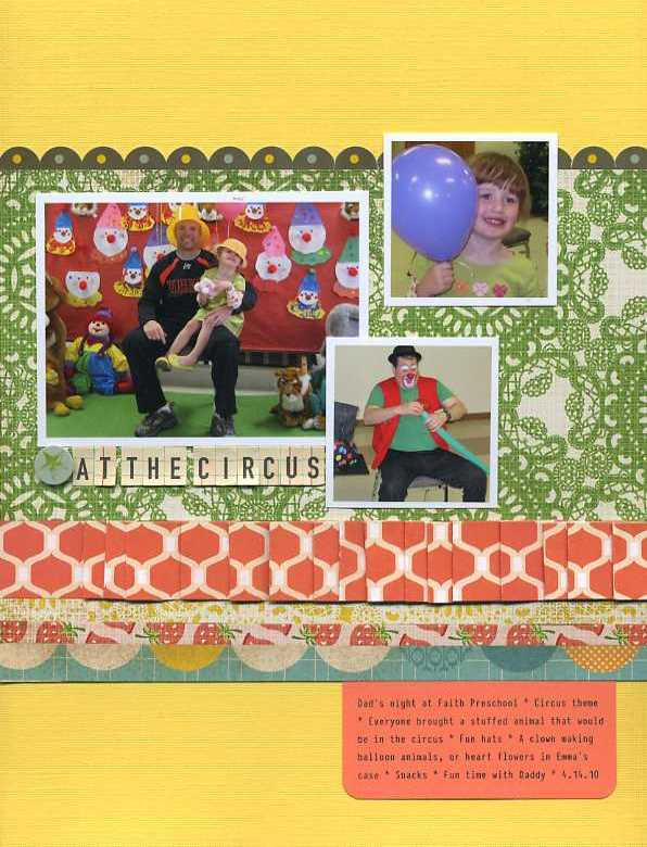 Erin sweeney write click scrapbook at the circus