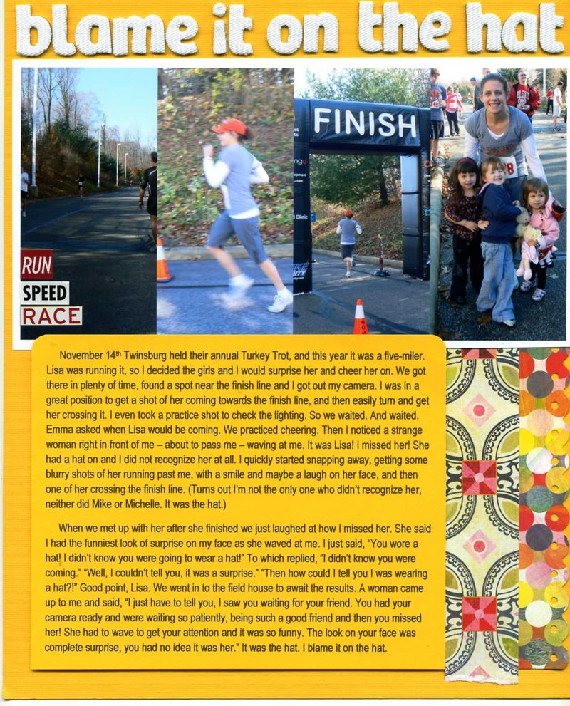 Erin sweeney blame it on the hat write click scrapbook.and she's out
