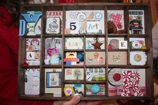 Display it day 1 project intro write click scrapbook - Salt and pepper shaker display case ...