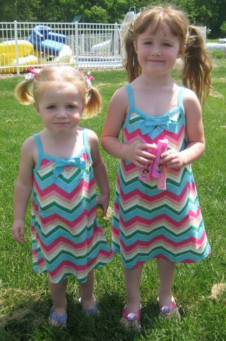 Girls matching dresses