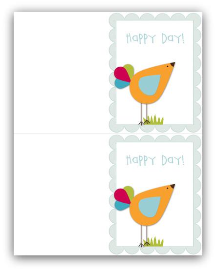 Happy day card write click scrapbook