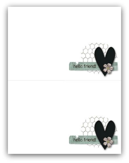 Hello card write click scrapbook
