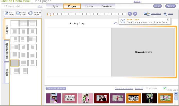 Shutterfly 3 write click scrapbook