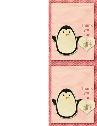 Thank you printable card