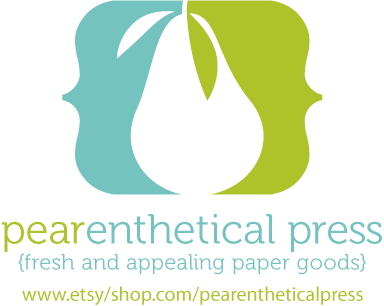 Pearaenthetical press logo write click scrapbook
