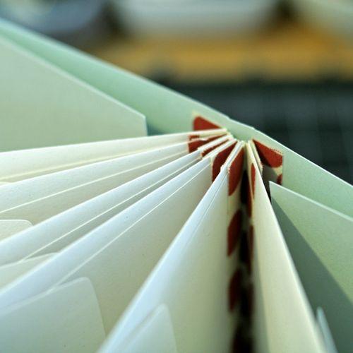 Close-up of binding