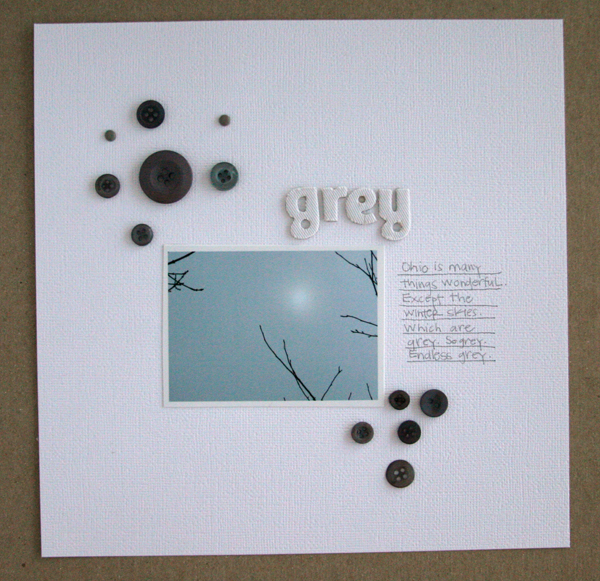Grey serasa write click scrapbook jet pens
