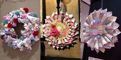 Paper cone collage