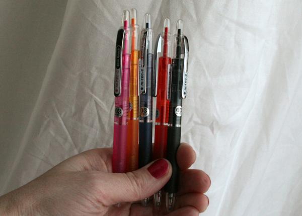 Hi-tec-c write click scrapbook jet pens