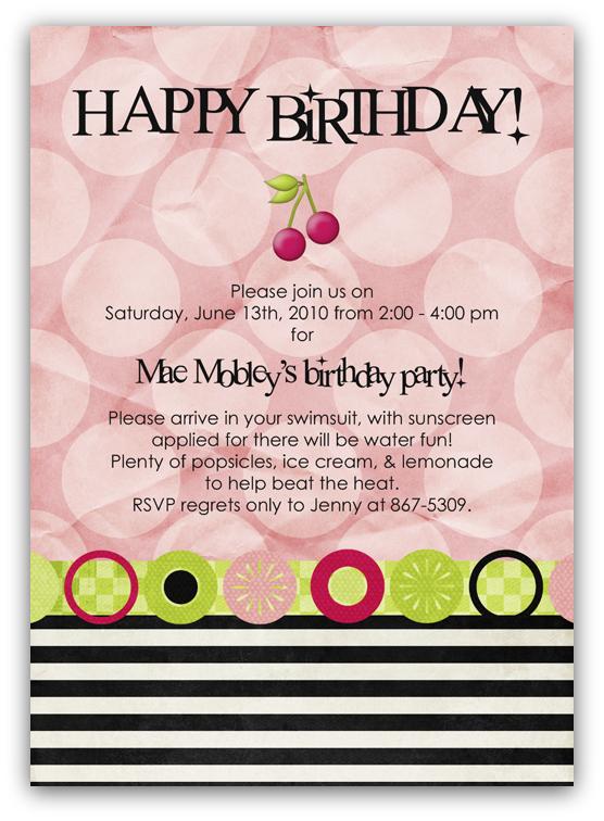 Cherry limeade birthday