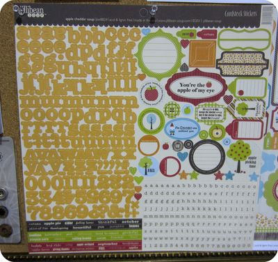 Write click scrapbook jillibean letter sticker sheet