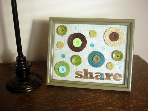 Framed button art