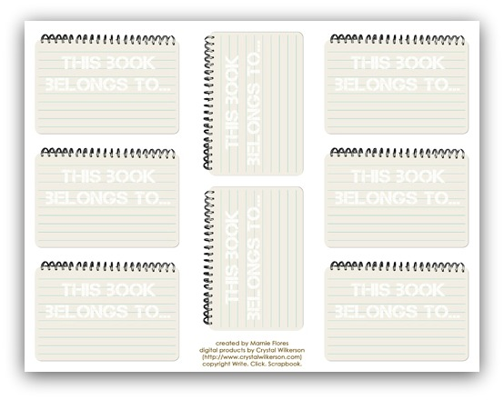 Notebook book plates