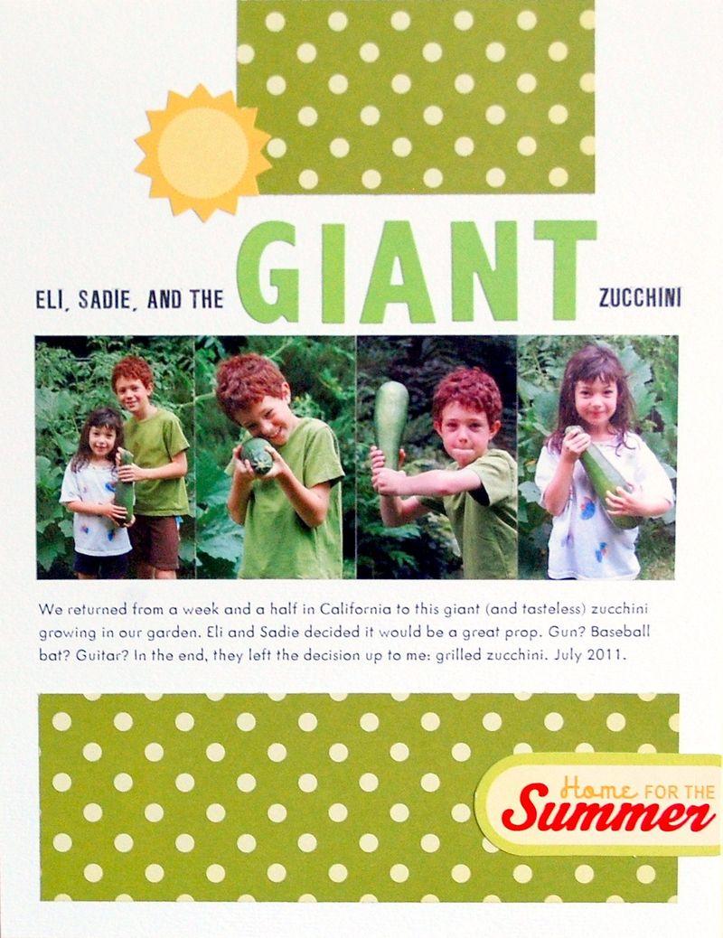 Giant Zucchini - Vivian Masket