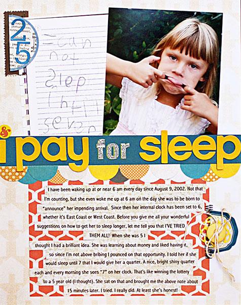 I pay for sleep 2
