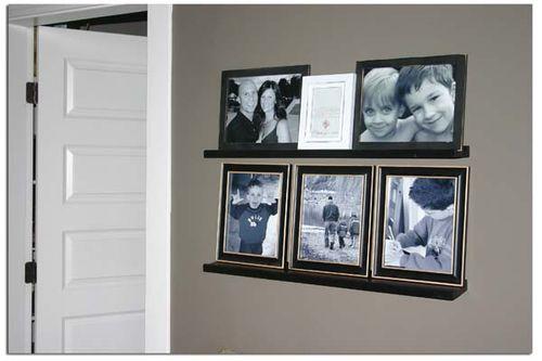 Bedroom photo wall