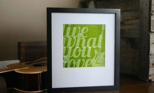 Live what you love framed