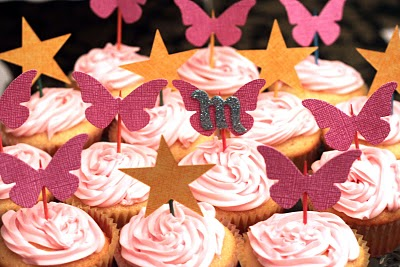 Paula birthday cupcake toppers