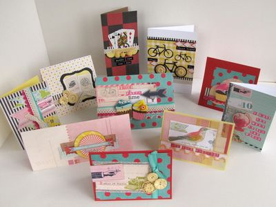 Freehand scraps june kit cards write click scrapbook