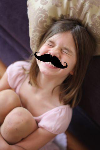 Ella cheese face mustache
